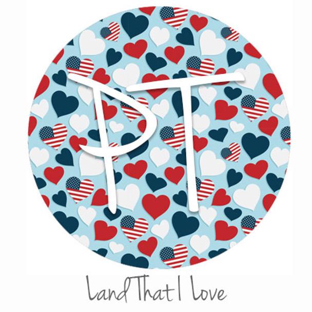"12""x12"" Patterned Heat Transfer Vinyl - Land That I Love"