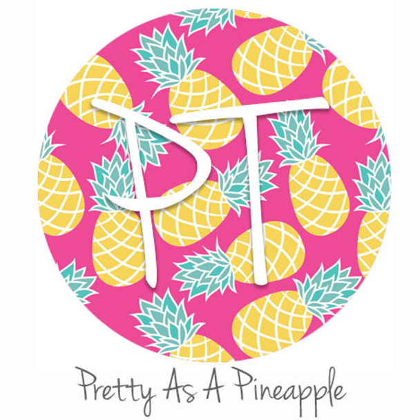 """12""""x12"""" Permanent Patterned Vinyl - Pretty As A Pineapple"""