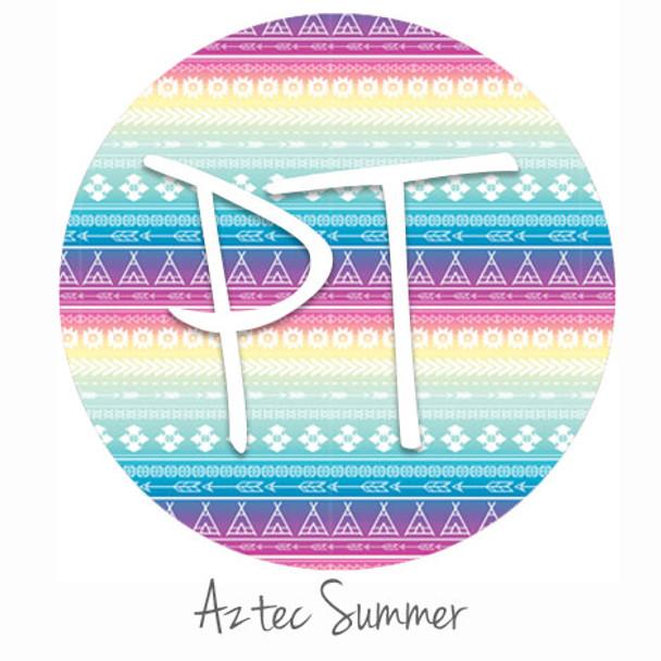 """12""""x12"""" Patterned Heat Transfer Vinyl - Aztec Summer"""