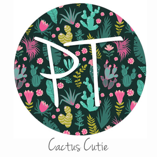 "12""x12"" Patterned Heat Transfer Vinyl - Cactus Cutie"