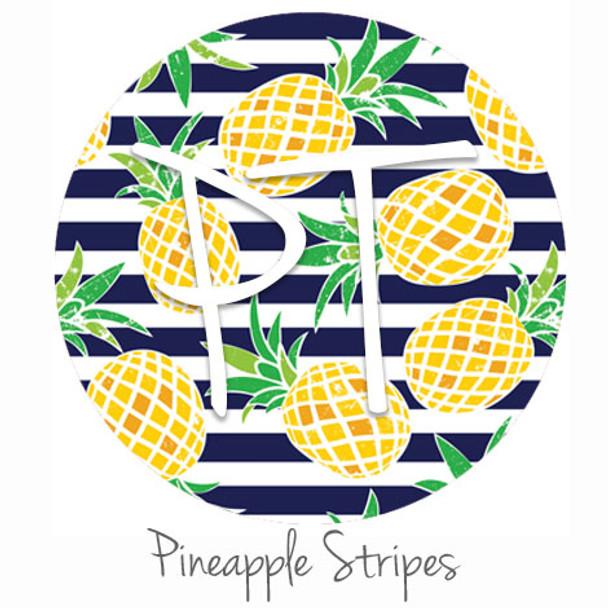 "12""x12"" Patterned Heat Transfer Vinyl - Pineapple Stripes"