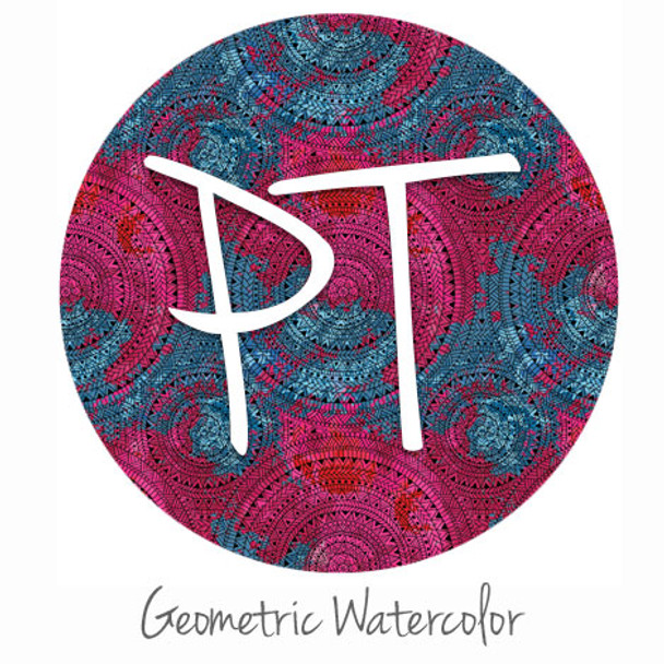 "12""x12"" Permanent Patterned Vinyl - Geometric Watercolor"