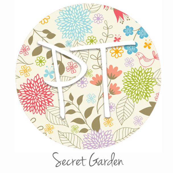 "12""x12"" Permanent Patterned Vinyl - Secret Garden"