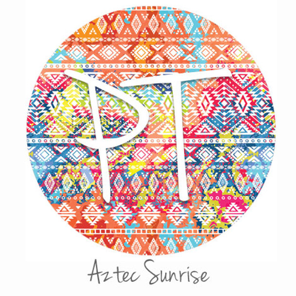 "12""x12"" Patterned Heat Transfer Vinyl - Aztec Sunrise"