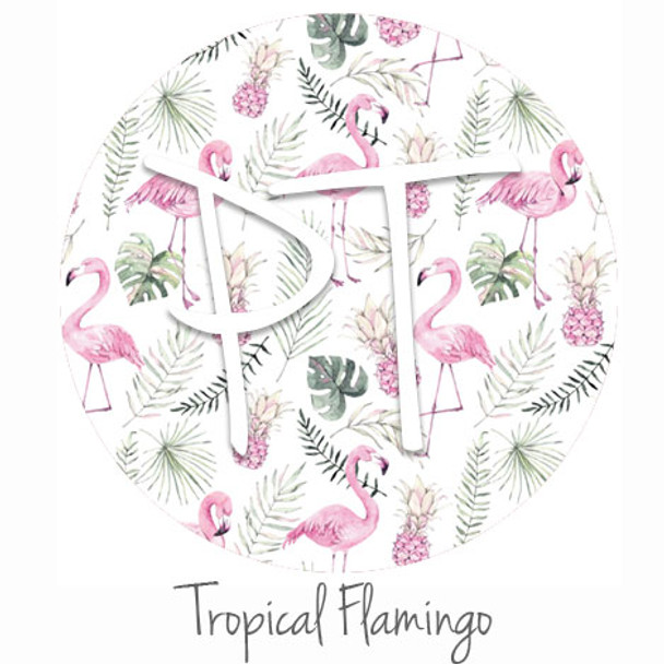 "12""x12"" Permanent Patterned Vinyl - Tropical Flamingo"