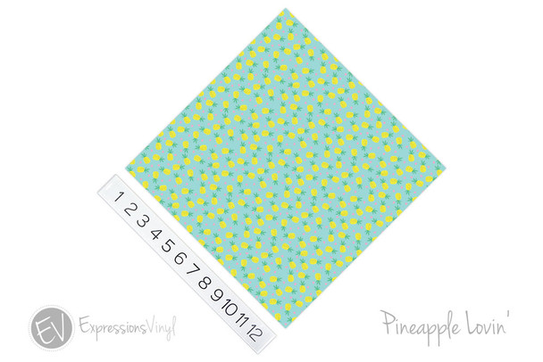 "12""x12"" Patterned Heat Transfer Vinyl - Pineapple Lovin'"