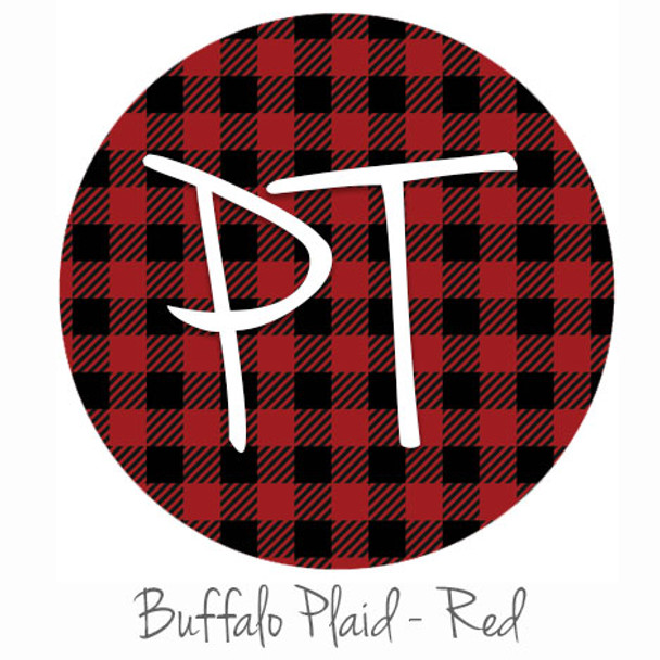 "12""x12"" Permanent Patterned Vinyl - Buffalo Plaid - Red"