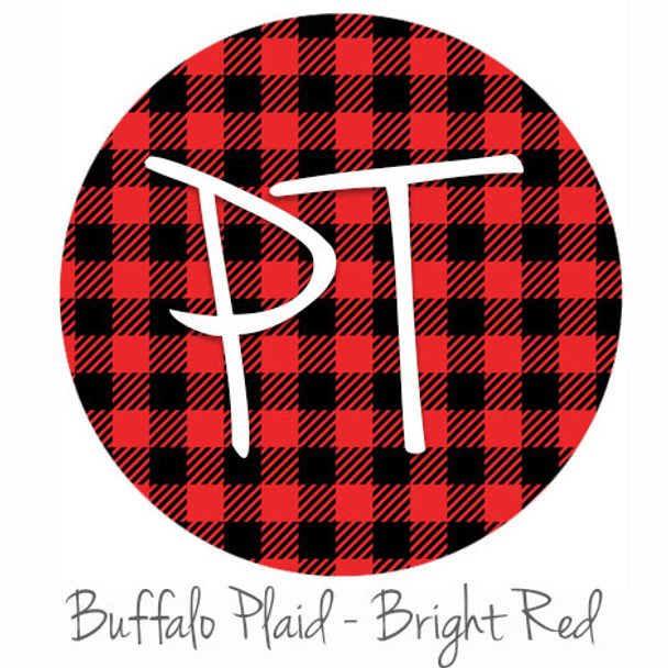 "12""x12"" Patterned Heat Transfer Vinyl - Buffalo Plaid - Bright Red"