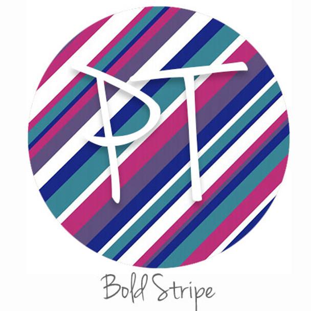 Patterned Heat Transfer Vinyl - Bold Stripe - Swatch