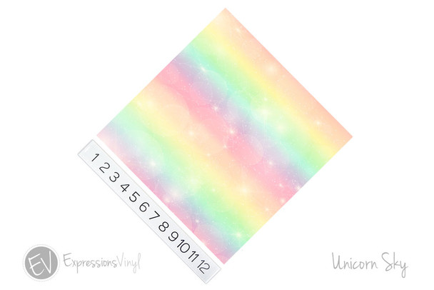 "12""x12"" Permanent Patterned Vinyl - Unicorn Sky"
