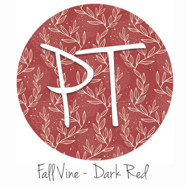 "12""x12"" Patterned Heat Transfer Vinyl - Fall Vine: Dark Red"