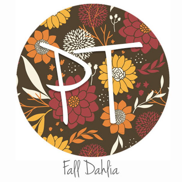 "12""x12"" Patterned Heat Transfer Vinyl - Fall Dahlia"