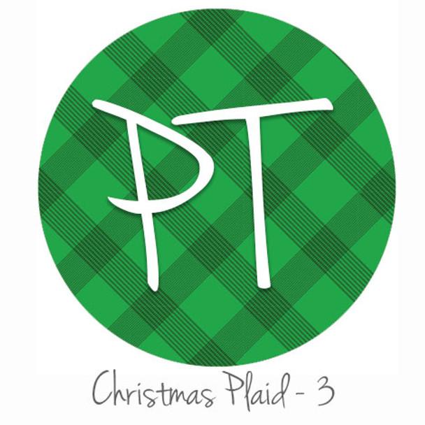 "12""x12"" Patterned Heat Transfer Vinyl - Christmas Plaid #3"