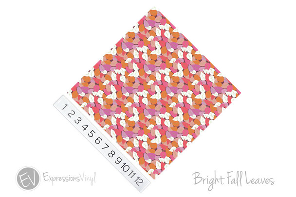 "12""x12"" Permanent Patterned Vinyl - Bright Fall Leaves"