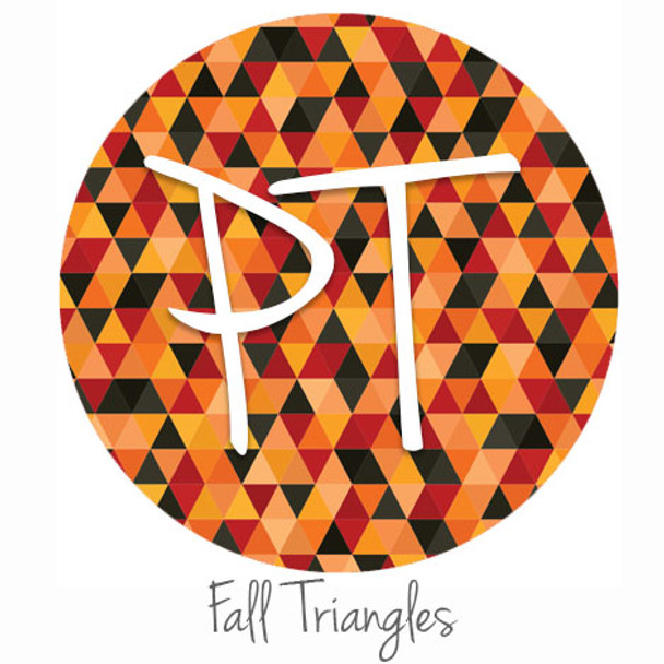 "12""x12"" Permanent Patterned Vinyl - Fall Triangles"