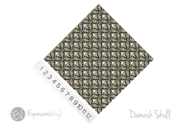 "12""x12"" Permanent Patterned Vinyl - Damask Skulls"