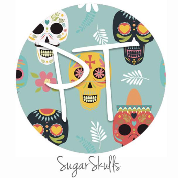 """12""""x12"""" Permanent Patterned Vinyl - Sugar Skulls"""
