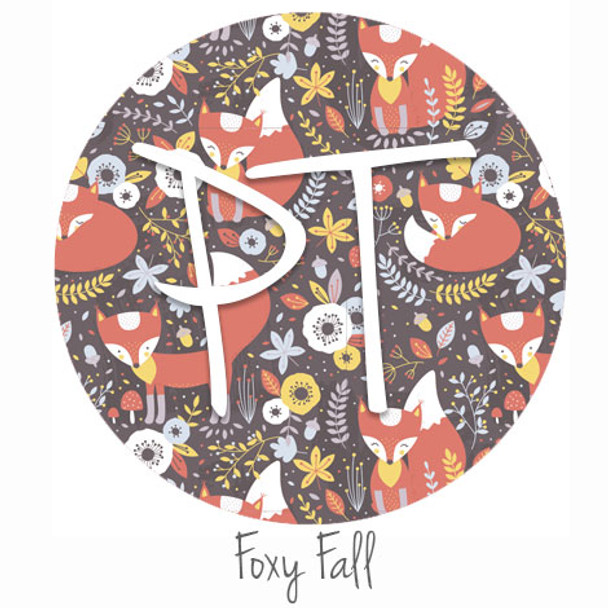 "12""x12"" Patterned Heat Transfer Vinyl - Foxy Fall"