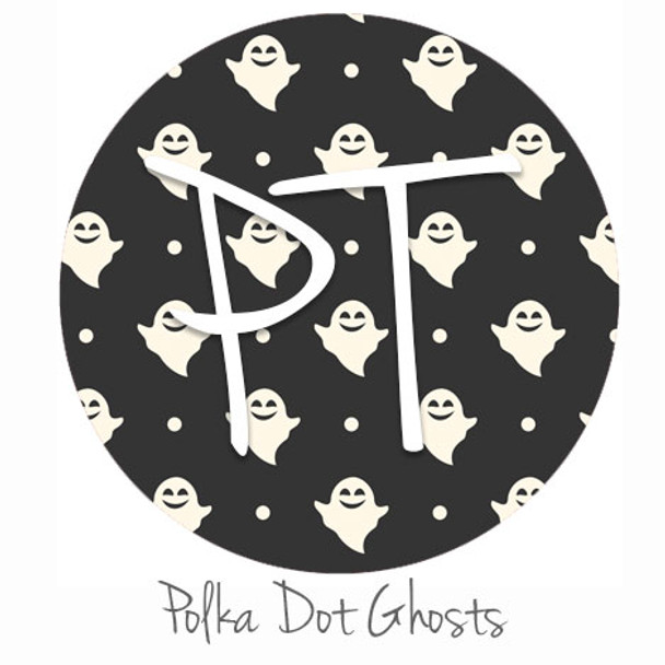 "12""x12"" Patterned Heat Transfer Vinyl - Polka Dot Ghost"