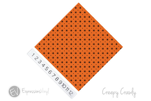 "12""x12"" Patterned Heat Transfer Vinyl - Creepy Crawly"