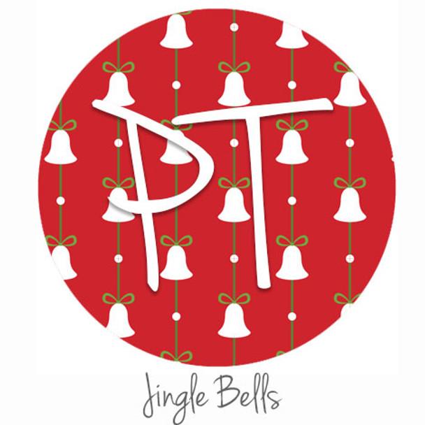 """12""""x12"""" Patterned Heat Transfer Vinyl - Jingle Bells"""