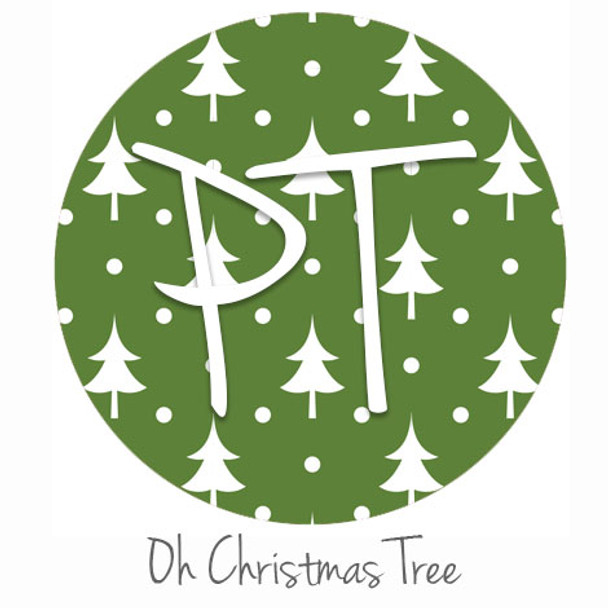 "12""x12"" Patterned Heat Transfer Vinyl - Oh Christmas Tree"