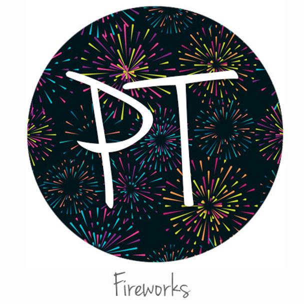 "12""x12"" Patterned Heat Transfer Vinyl - Fireworks"