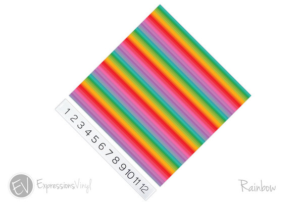 "12""x12"" Patterned Heat Transfer Vinyl - Rainbow"