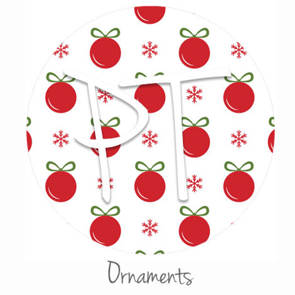 "12""x12"" Permanent Patterned Vinyl - Ornaments"