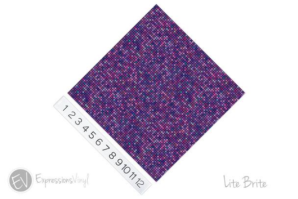 "12""x12"" Permanent Patterned Vinyl - Lite Brite"