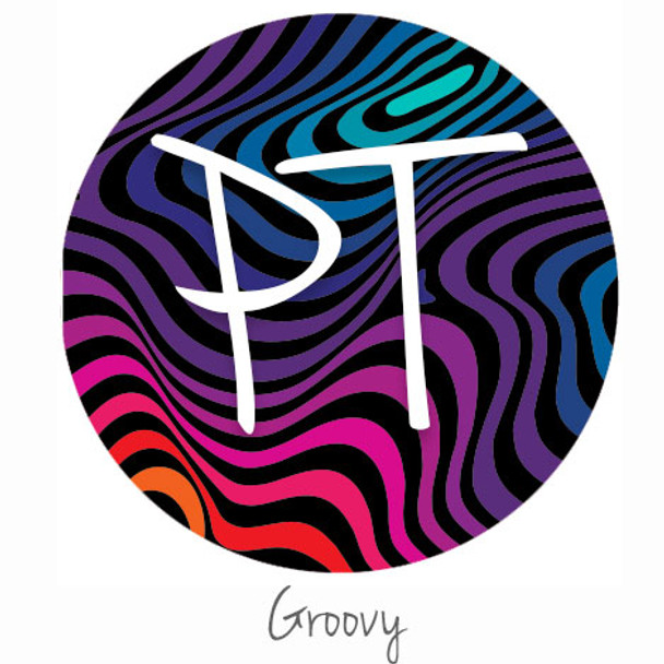 "12""x12"" Permanent Patterned Vinyl - Groovy"