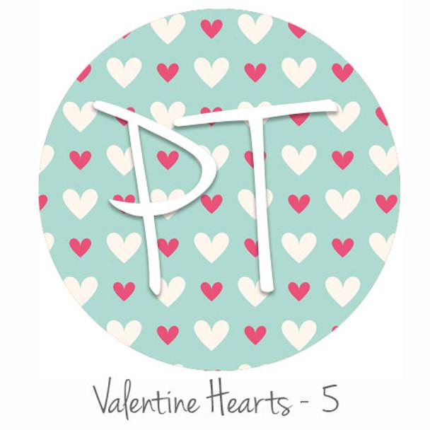 "12""x12"" Permanent Patterned Vinyl - Valentine's Hearts 5"