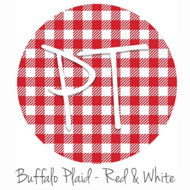 "12""x12"" Permanent Patterned Vinyl - Buffalo Plaid - Red/White"