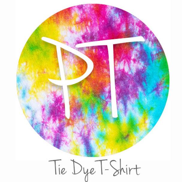 """12""""x12"""" Patterned Heat Transfer Vinyl - Tie Dye T-Shirt"""