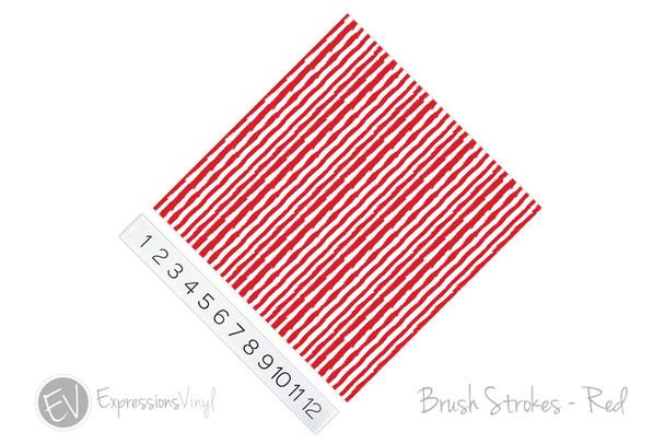 "12""x12"" Patterned Heat Transfer Vinyl - Brush Strokes - Red"