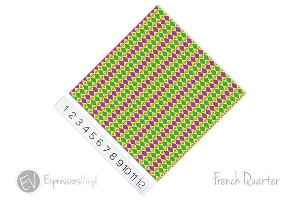 "12""x12"" Patterned Heat Transfer Vinyl - French Quarter"