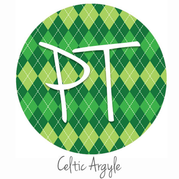 "12""x12"" Patterned Heat Transfer Vinyl - Celtic Argyle"