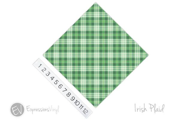 "12""x12"" Patterned Heat Transfer Vinyl - Irish Plaid"