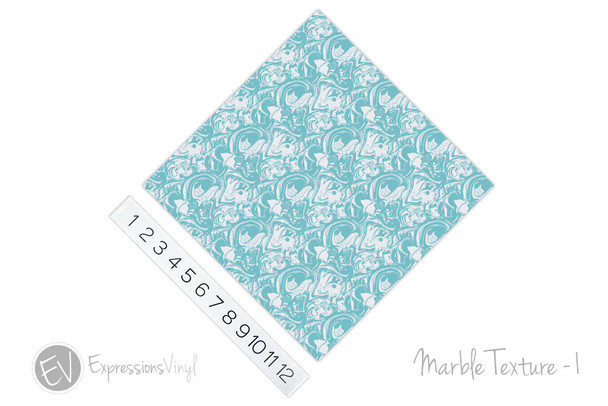 "12""x12"" Patterned Heat Transfer Vinyl - Marble Texture 1"