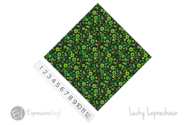 "12""x12"" Permanent Patterned Vinyl - Lucky Leprechaun"