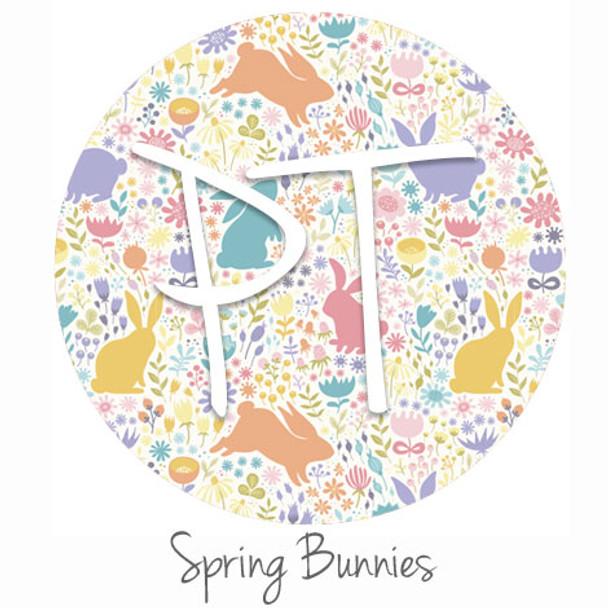 """12""""x12"""" Patterned Heat Transfer Vinyl - Spring Bunnies"""