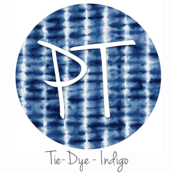 "12""x12"" Patterned Heat Transfer Vinyl - Tie Dye - Indigo"