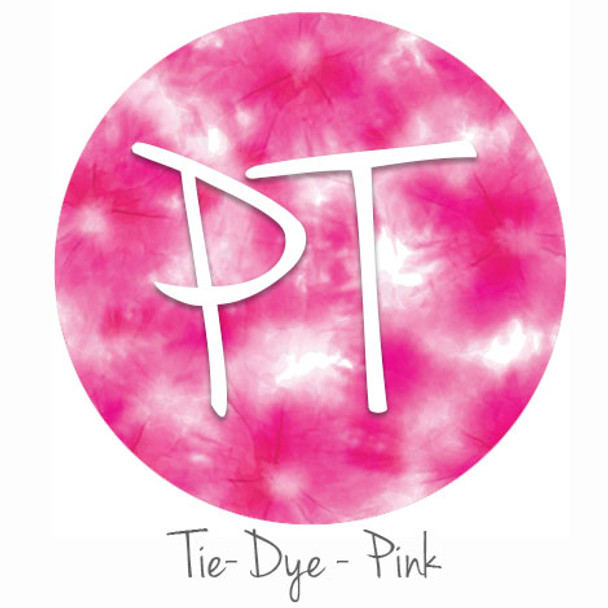 "12""x12"" Patterned Heat Transfer Vinyl - Tie Dye - Pink"