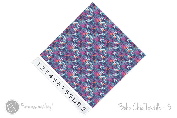 "12""x12"" Patterned Heat Transfer Vinyl - Boho Chic Textile - 3"