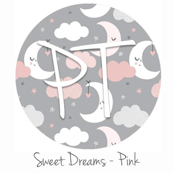 """12""""x12"""" Patterned Heat Transfer Vinyl -Sweet Dreams - Pink"""