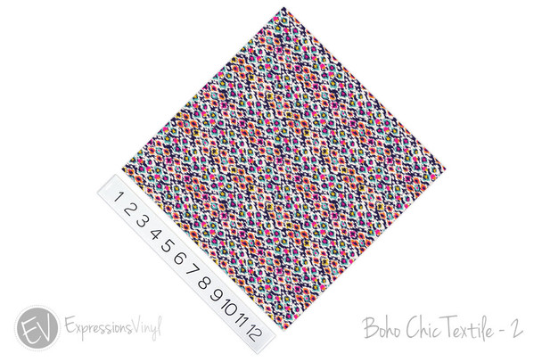 "12""x12"" Permanent Patterned Vinyl - Boho Chic Textile - 2"