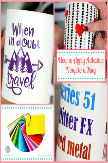 graphic relating to Decal Application Instructions Printable named Making use of Adhesive VInyl upon a Mug - Expressions Vinyl