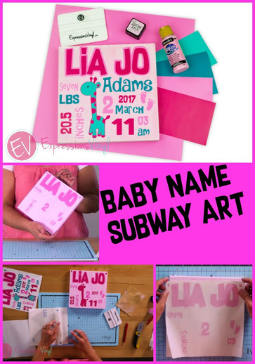 Baby Name Subway Art