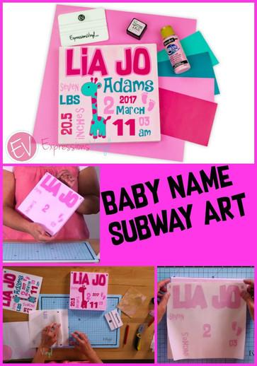 Baby Name Subway Art