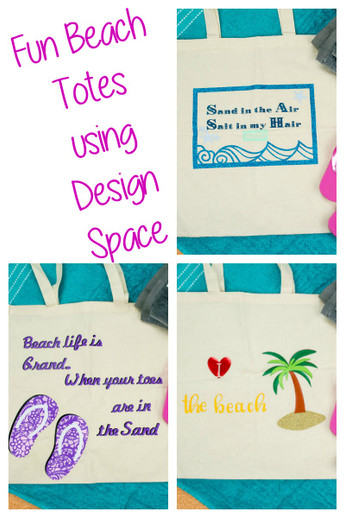 Beach Totes with your Cricut Explore